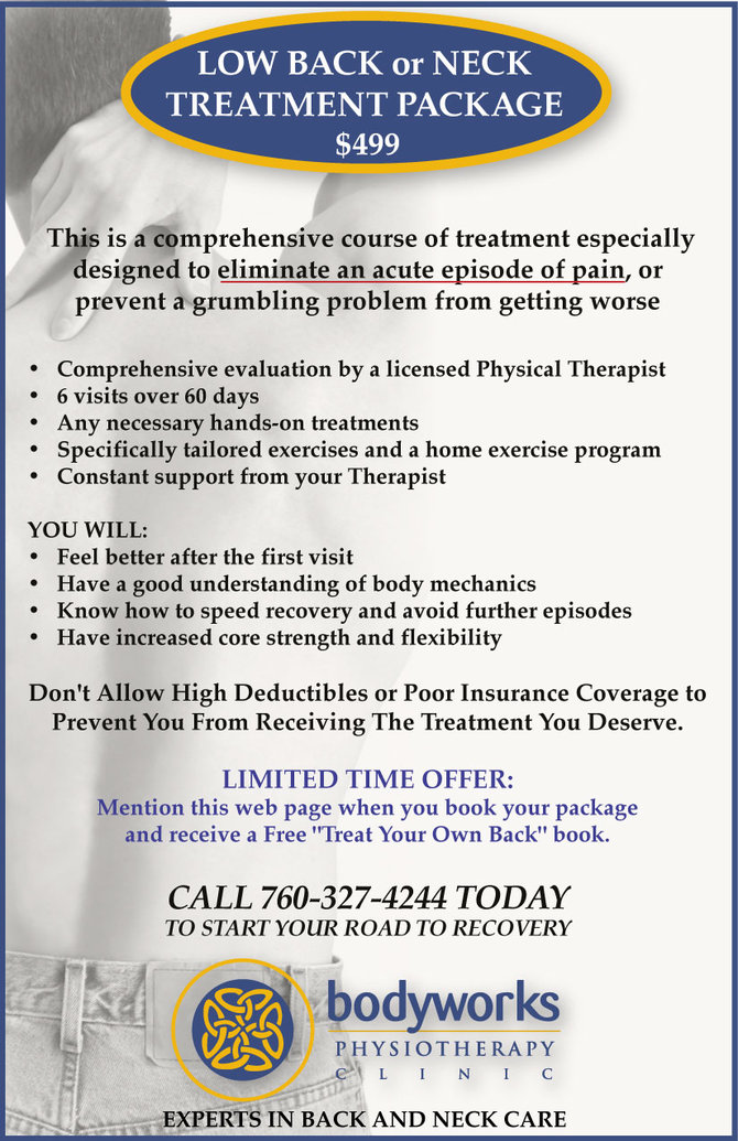 Special: Low Back or Neck Treatment Package